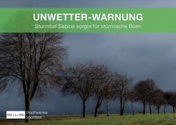 Bild von Sturmtief Sabine
